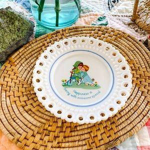 Vintage Decorative Plate - Happiness